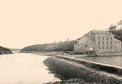 Le Moulin Neuf en 1900, de La Richardais